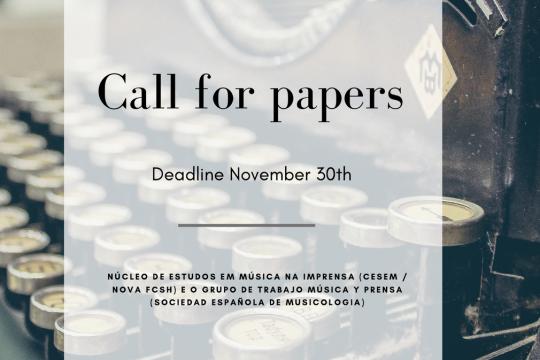 Call for papers III Jornadas NEMI - 9.º MUSPRES