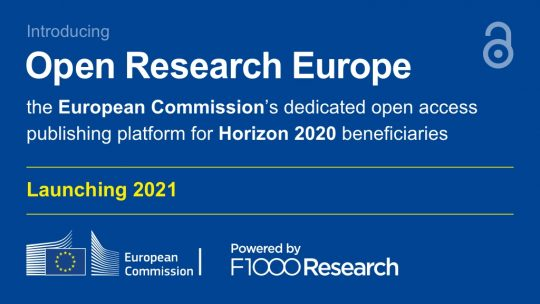 Open Research Europe - a nova plataforma de publicação científica em acesso aberto da Comissão Europeia