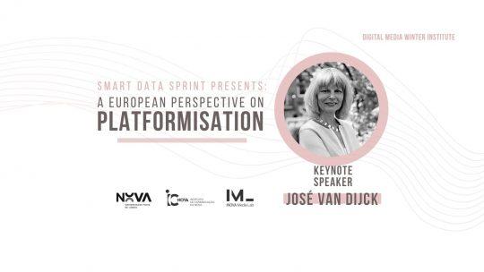SMART Data Sprint 2021 apresenta José van Dijck   A European Perspective on Platformisation