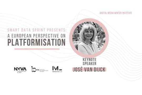 SMART Data Sprint 2021 apresenta José van Dijck | A European Perspective on Platformisation