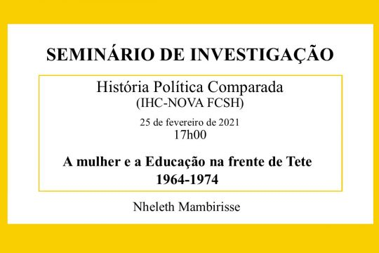 A mulher e a Educação na frente de Tete (1964-1974)