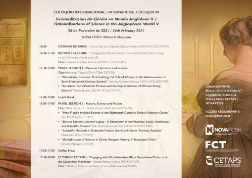 V Colóquio Internacional Ficcionalizações da Ciência no Mundo Anglófono