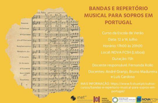 Bandas e Repertório Musical para Sopros em Portugal