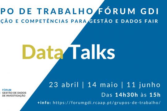 Fórum GDI organiza três Data Talks sobre gestão e dados FAIR entre os meses de abril e junho