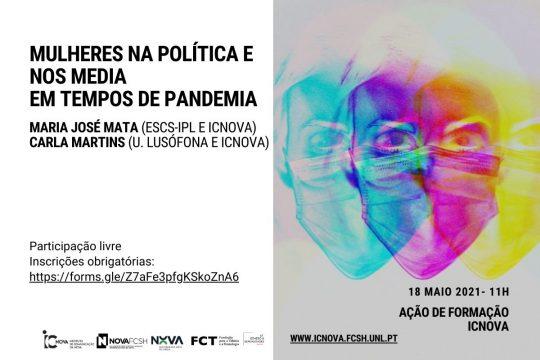 """Ação de Formação sobre """"Mulheres na política e nos media em tempos de pandemia"""""""