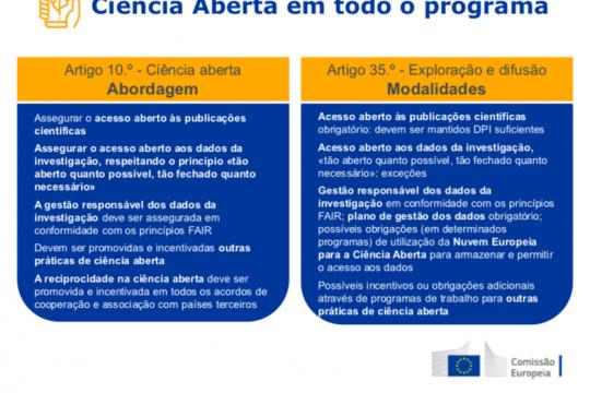 Horizonte Europa, do acesso aberto à ciência aberta. Conhece os novos requisitos.