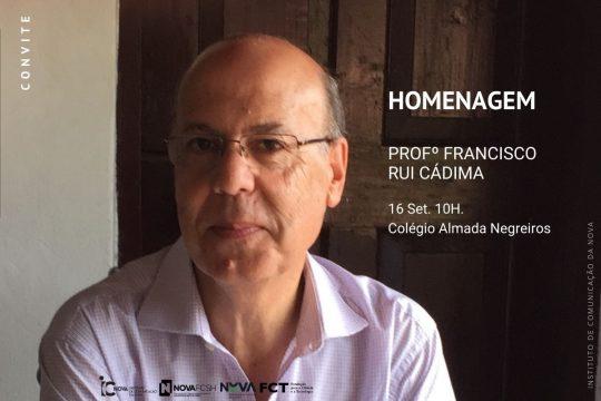 Homenagem ao Professor Francisco Rui Cádima abre a III Conferência Internacional História do Jornalismo em Portugal